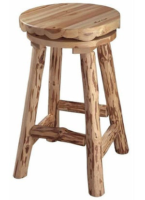 log bar stools
