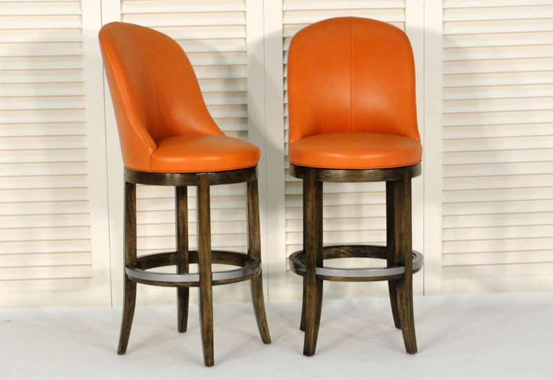 Orange Bar Stools Rocket Bar Stools