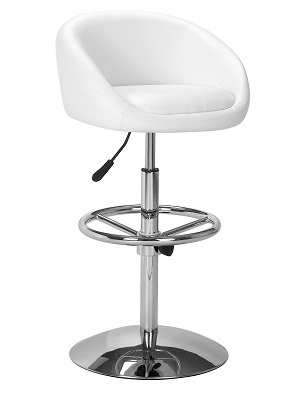 white bar stools