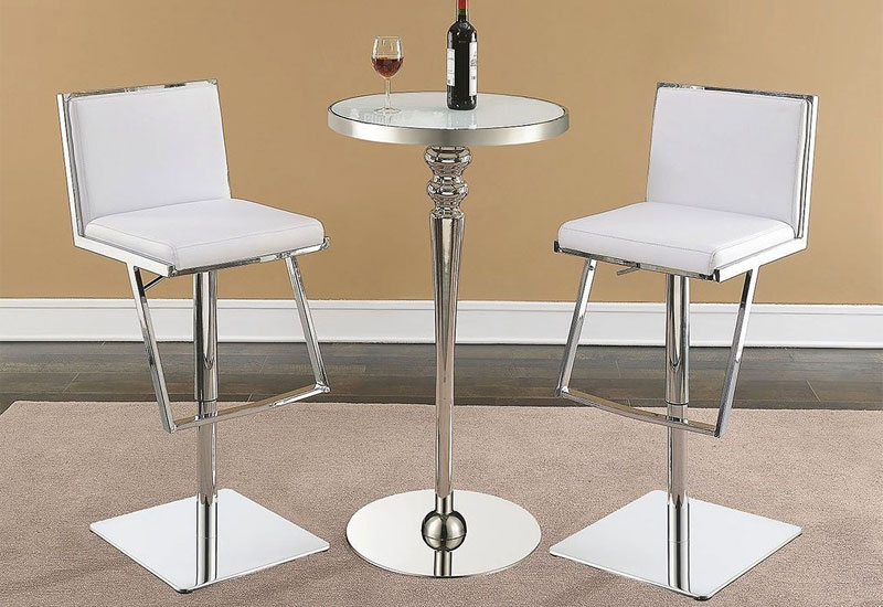 White Bar Stools Rocket Bar Stools